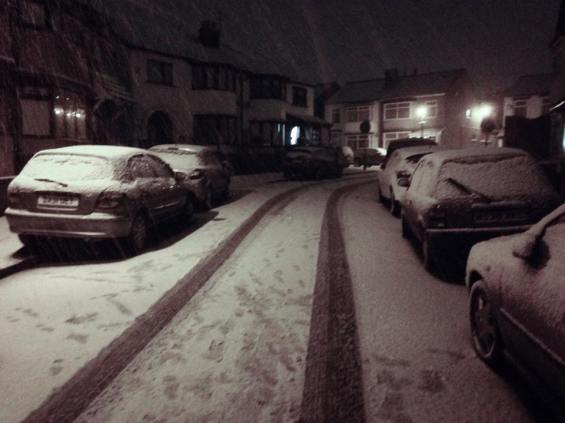 Snow in bebington