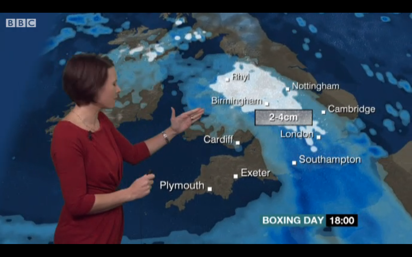 Bbc weather - Bbc Weather Showing The Snow