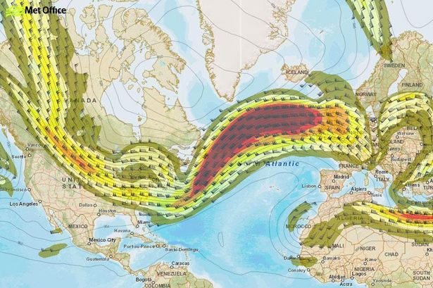 Met office jet stream path