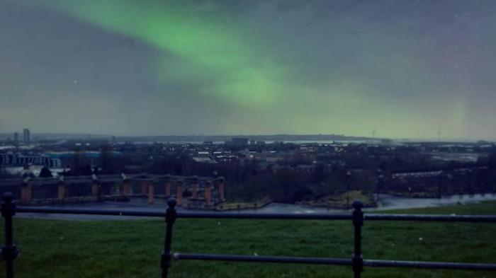 northern lights over Liverpool last year - Carl Ryan