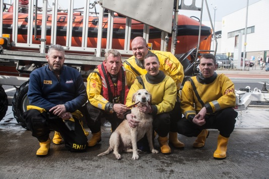 Plucky Martha with her rescuers