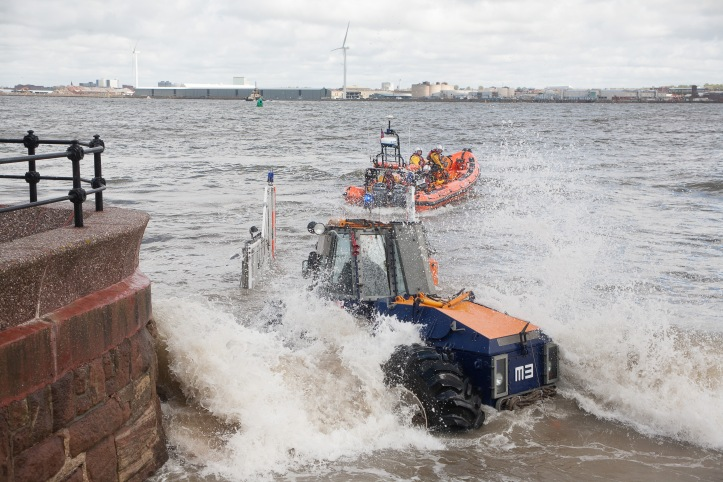 New Brighton RNLI heading out to the casualties. Credit: RNLI / Bob Warwick