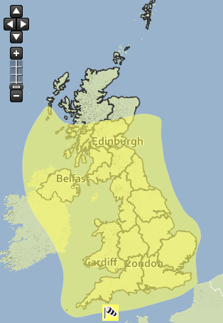 Met Office warnings in place for most of the UK today