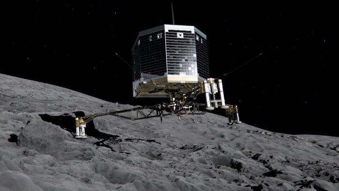 Artists impression of Philae on comet 67P
