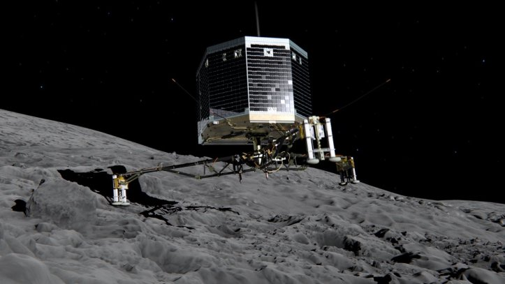 Artists impression of Philae on comet 67P