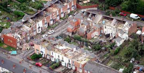 Birmingham tornado damage in 2005
