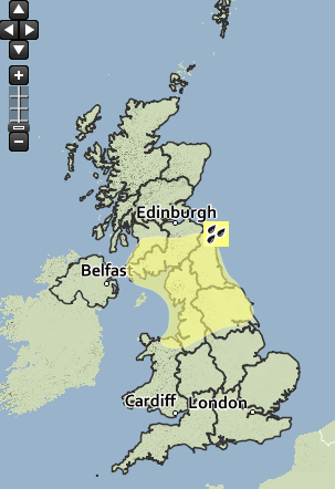 Wednesday weather warnings