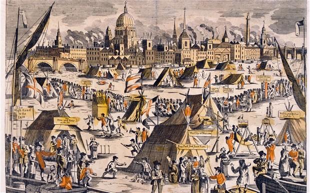 Frost fair 370 years ago