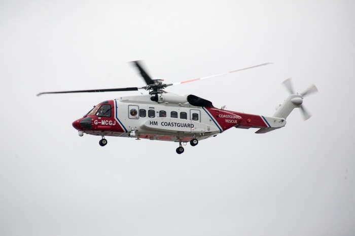 HM Coastguard helicopter - Rescue 936
