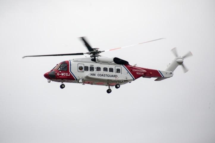 HM Coastguard helicopter - Rescue 936
