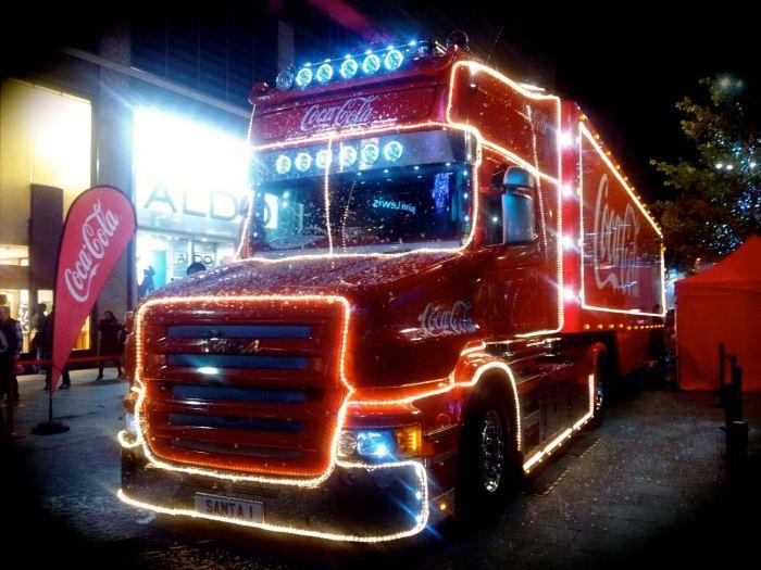Coca-cola truck in Liverpool