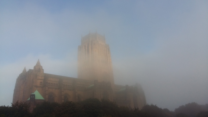 FOG in Liverpool on Friday.