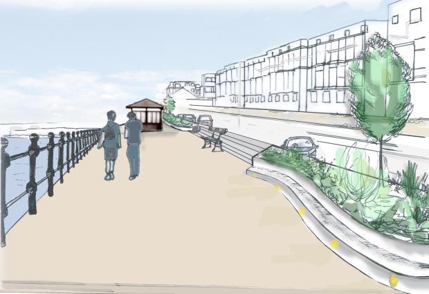 Artist's impression of possible design for flood alleviation measures