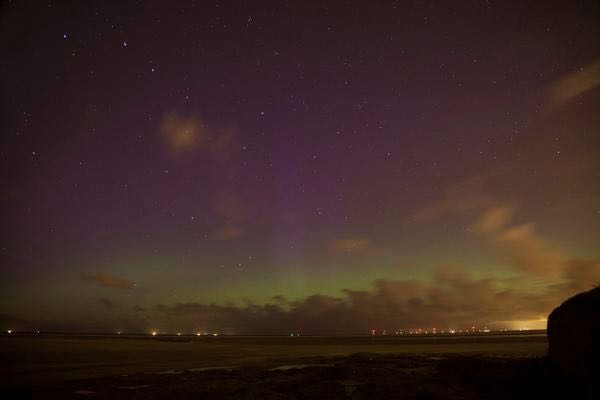 Northern Lights over Hoylake - CREDIT: David Chennell