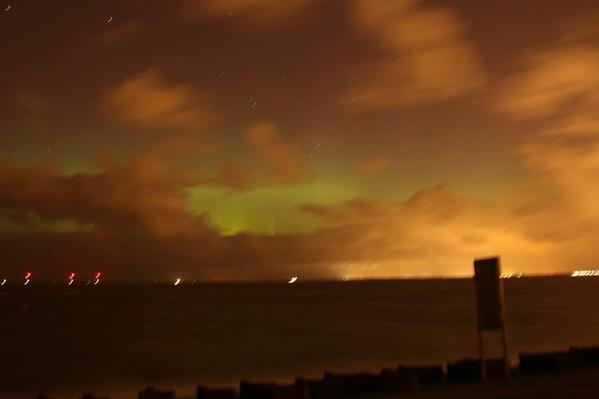 Moreton Northern Lights. CREDIT: Tim Collins