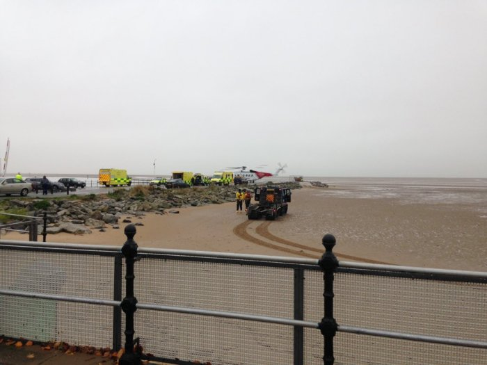 West Kirby this morning - CREDIT: Stephen Christley