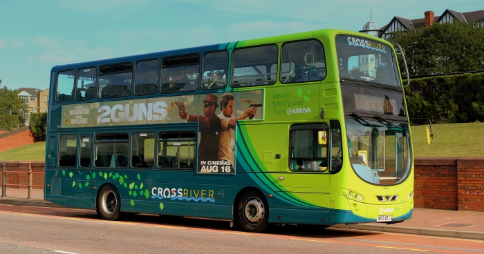 ARRIVABUS_WRIGHTBUS_GEMINI_2_ELECTRIC_DIESEL_HYBRID_BUS_ON_ROUTE_410_REST_IN_NEW_BRIGHTON_WIRRAL_AUG_2013_(9432305785)
