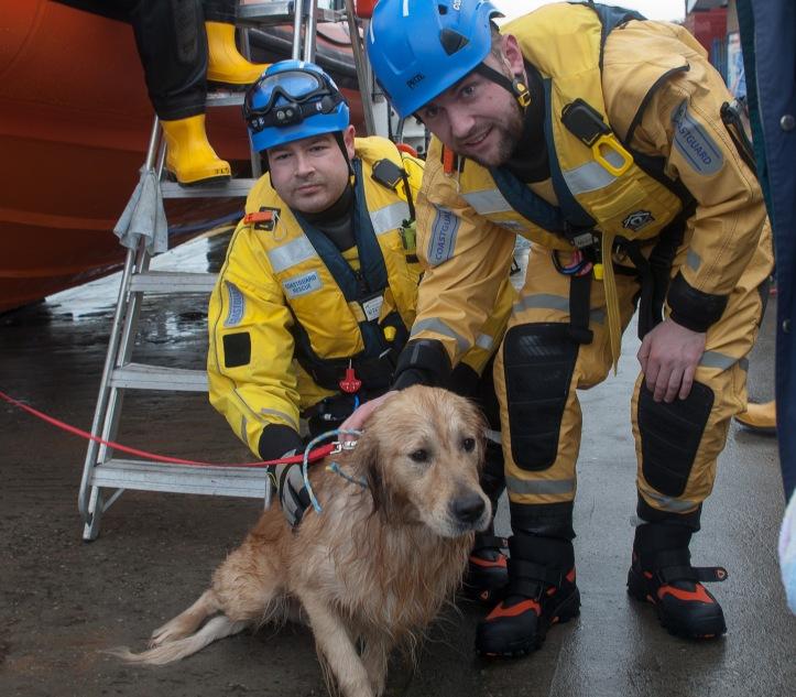 Ben with Coastguards