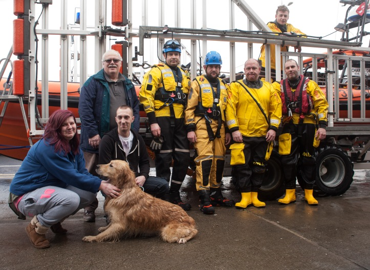Ben reunited with owner and the rescue team