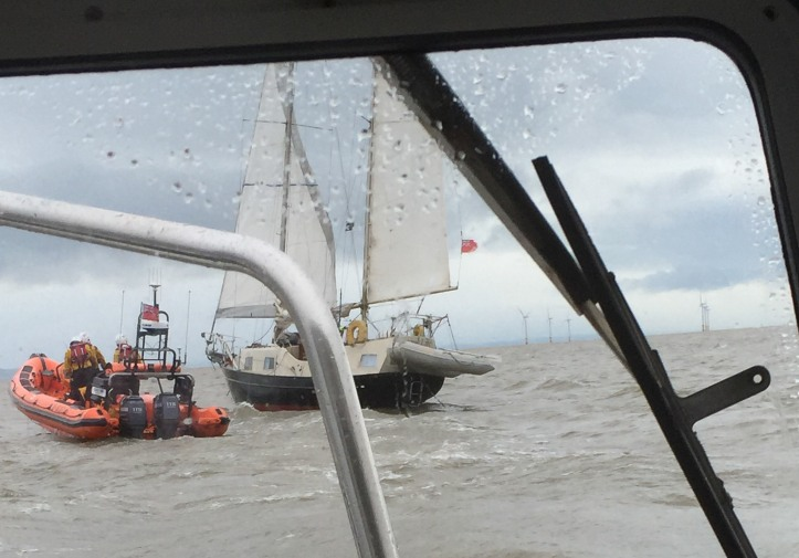 View from Safety Boat Dependable