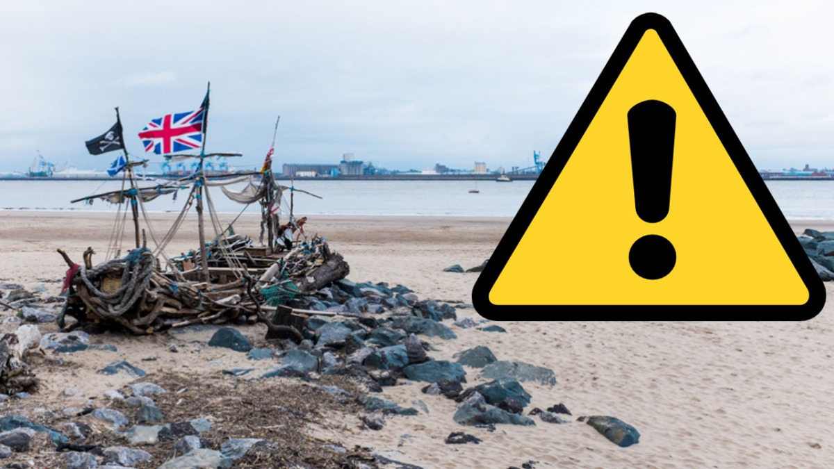 Coastguard warn people to stay away from parts of a Wirral beach due to contamination fears