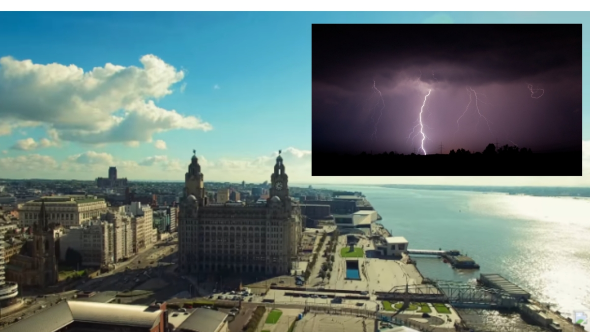 Hot weather will continue to bake Merseyside this week - but there's storms on the way