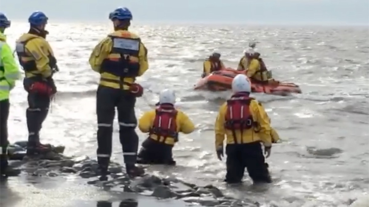 Dramatic video shows people being rescued during West Kirby RNLI's biggest ever incidents